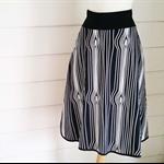 Black and White Skirt Pocket Skirt Small Skirt